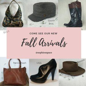 FEATURED FALL ARRIVALS